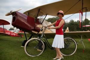Mit dem Fahrrad zum Flieger